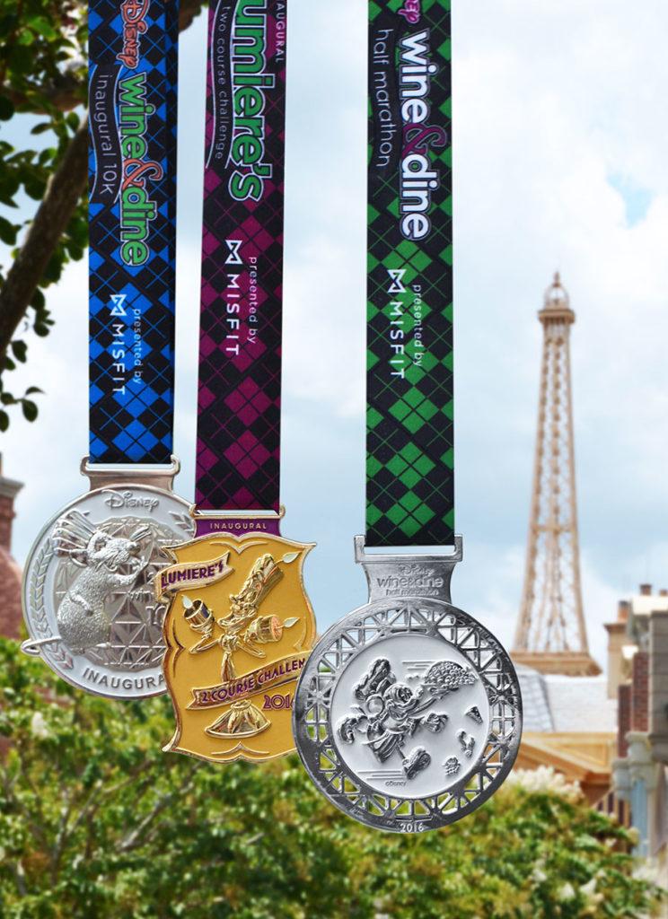 2016 Wine & Dine Half Marathon Weekend Medals